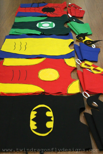 DIY No Sew Super Hero Costumes by Dragonfly Designs