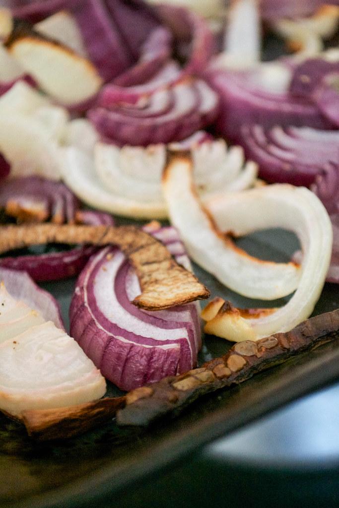 roasted onion slices