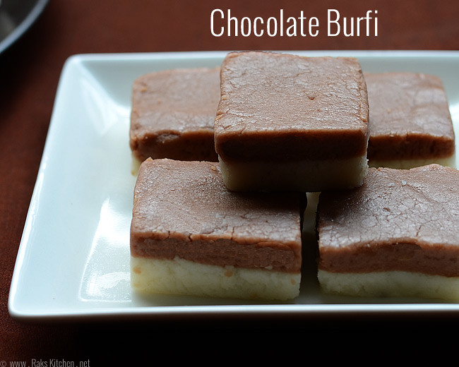 Chocolate burfi recipe diwali recipes for kids raks kitchen chocolate vanilla burfi forumfinder Images