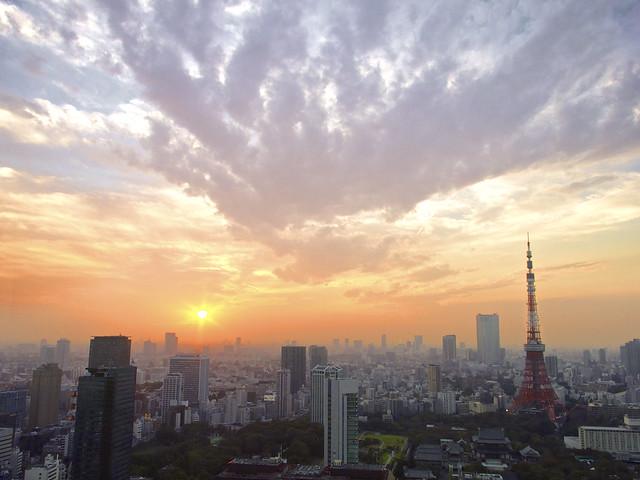 東京タワーと夕空  Tokyo Tower