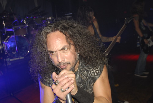 Mark Osegueda of Death Angel performing at Empire