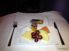 Inflight Meal of TG Business Class