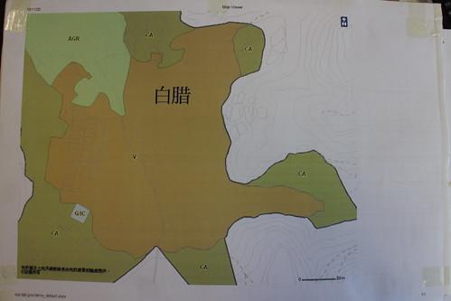城規會建議在白腊劃出的鄉村式發展範圍