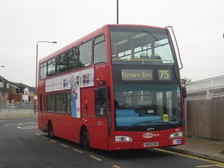Metrobus 893 on Route 75, Elmers End