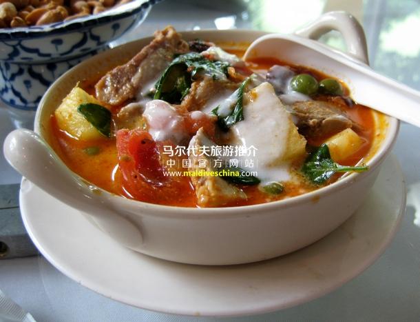"""马尔代夫的传统菜肴""""咖尔迪亚"""""""