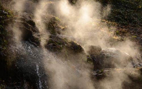 park sun sunlight hot waterfall falls steam national springs arkansas cascade