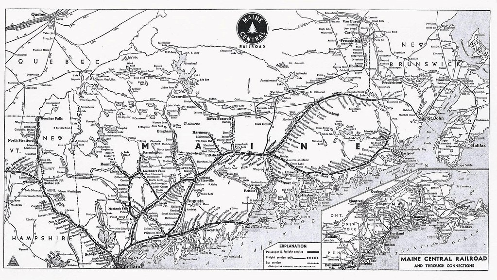 Maine Central Railroad, System Map, 1948 | From June 18, 194… | Flickr