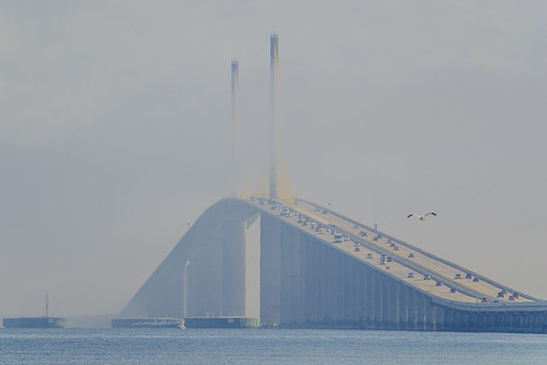 Marine Layer rolling through Sunshine Skyway Bridge - Timelapse 5/11