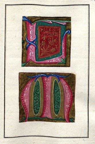 004-Álbum de las iníciales medievales - fol 24r- Biblioteca Nacional de Polonia
