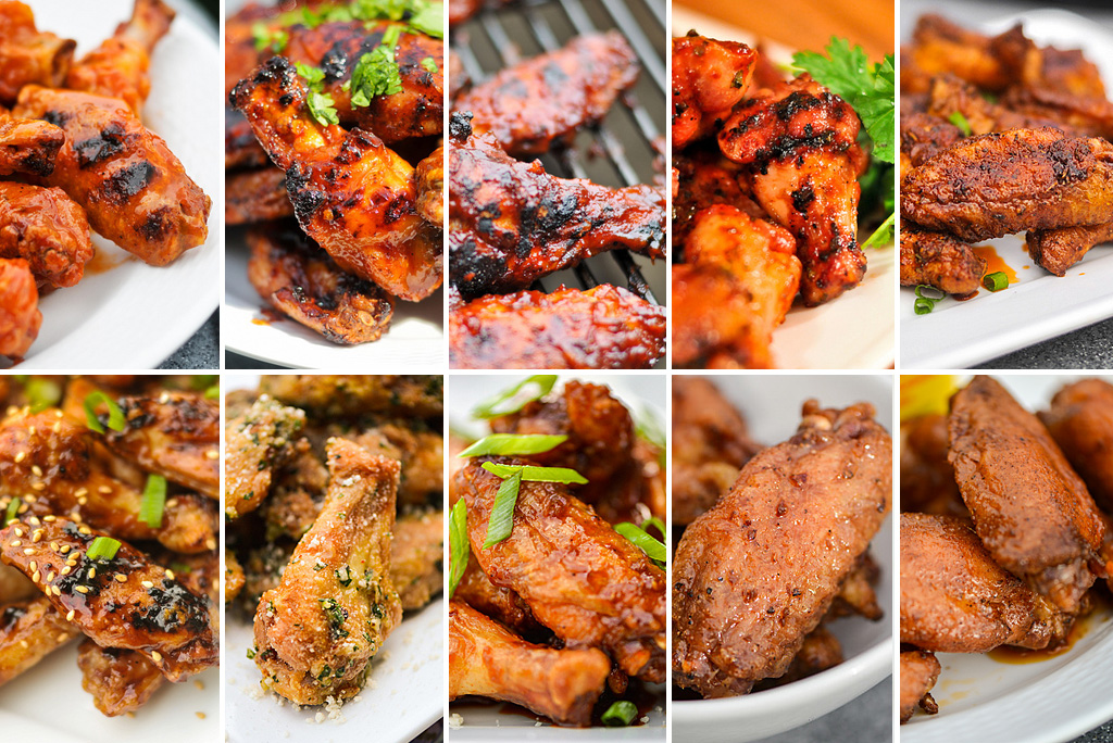 10 Grilled Chicken Wing Recipes for your Super Bowl Party