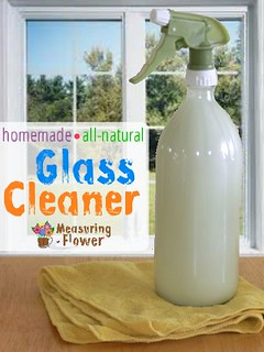 homemade all-natural glass cleaner