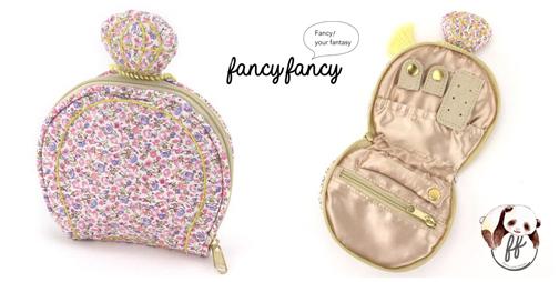 69.繽紛小花香水瓶造型隨身飾品袋-粉紅細節