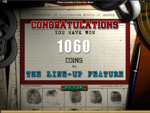 Mugshot Madness Free Spins Win