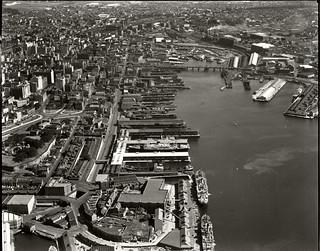 Darling Harbour and Pyrmont Bridge, 26 Nov 1937
