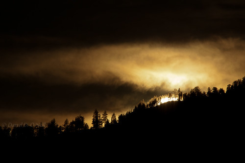 trees sunset sky sun white canada black mountains nature yellow clouds forest landscape grey golden bc okanagan gray scenic silhouettes hills ridge pines glowing