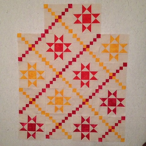 Two more colors and 8 more #blocks to make for this #quilt #ohcraft #darlingjillquilts