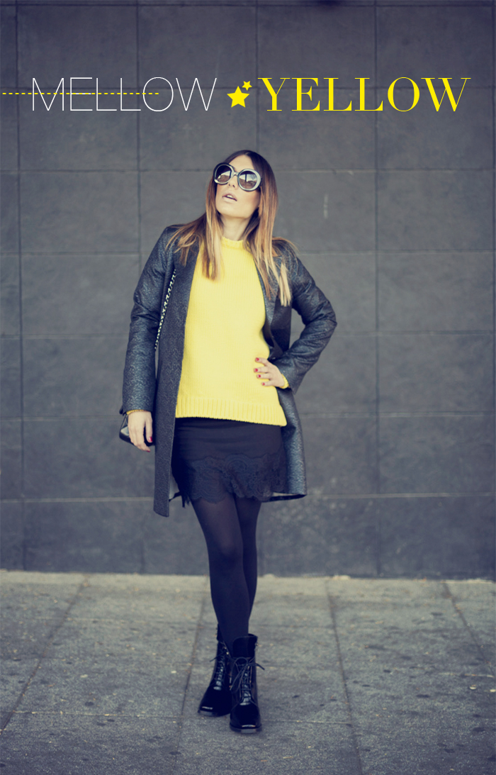 street style barbara crespo mellow yellow zara sweater chanel fashion blogger blog de moda outfit
