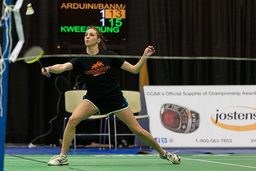 Anica Arduini in action at CCAA Nationals (Feb 28, 2014) (1)