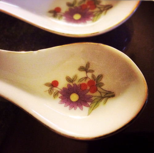 chinese, spoon, soup spoon, porcelain spoon