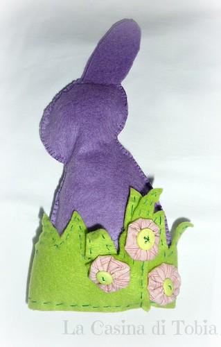 coniglietto pasquale feltro viola