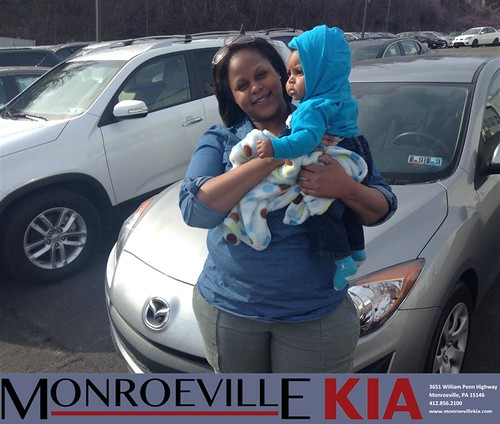 Congratulations to Raynelle Hurt on your #Mazda #Mazda3 purchase from Craig Stewart at Monroeville Kia! #NewCar by Monroeville KIA