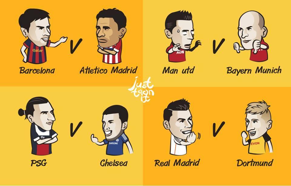 Champions League 1/4 Finals   JustToonIt - Football