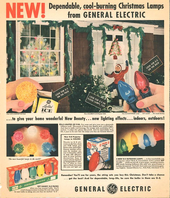 General Electric Christmas Lamps - 1958