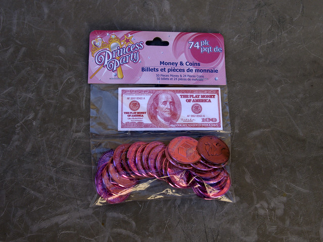 Princess Money from the Dollar store