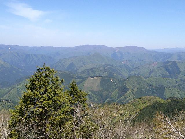 高賀山 山頂からの眺望 蕪山