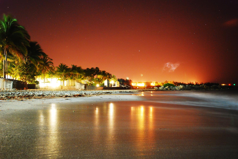 Beach, Long Exposure, Night Photo
