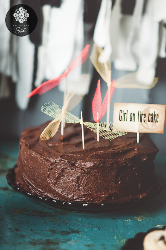 girl on fire cake