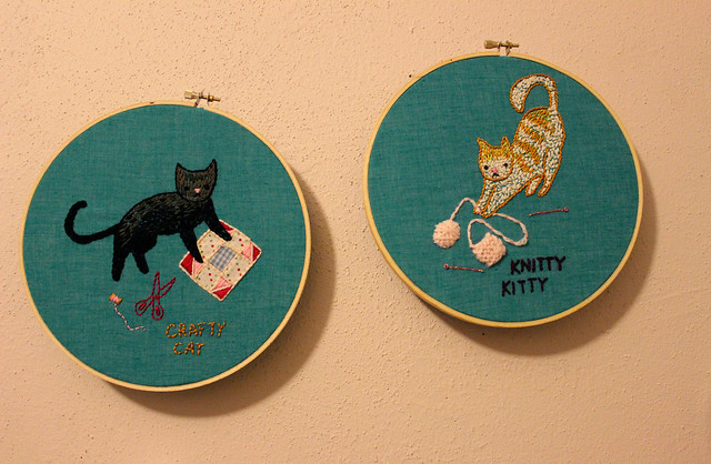 Cats and Crafts Embroidery Experiment
