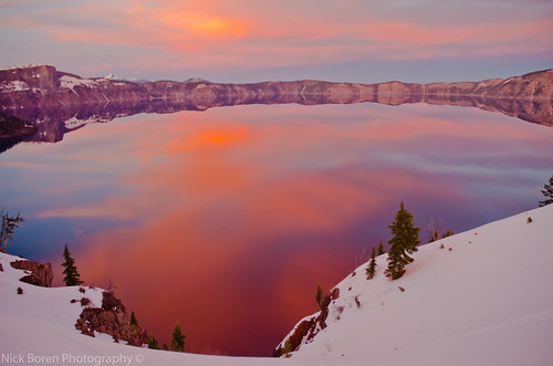 travel winter sunset sky usa lake snow mountains cold color nature water clouds oregon america reflections season landscape photography high natural pacific northwest nick north deep tourist clear crater caldera destination elevation rim attraction phenomenon boren toursim thanksforviewingandcommenting