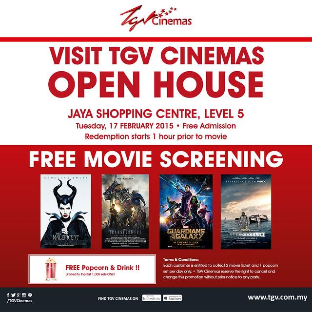 TGV Cinemas Jaya Shopping Centre Open House