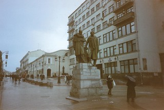 Monument Stanislavsky and Nemirovich-Danchenko in the Chamberlain lane