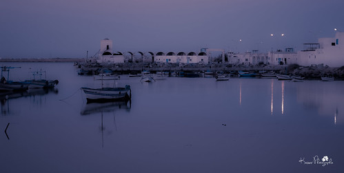 morning blue light boat tunisia djerba first ajim