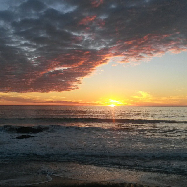 auringonlasku, San Simeon, highway 1, Kalifornia