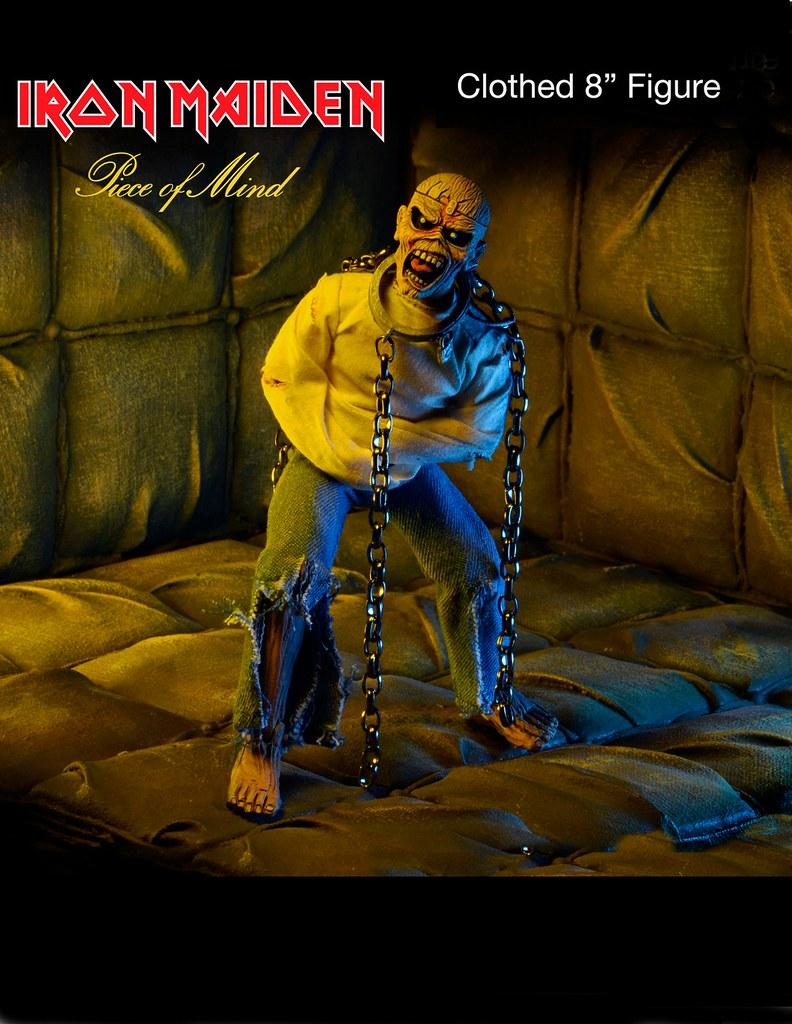 NECA 鐵娘子樂團【吉祥物艾迪】Iron Maiden Eddie 8 吋人偶作品 心靈的片段CD 封面造型