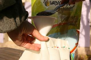 Tuto couture - bouillotte en graines de lin pour les cervicales - Etape 9