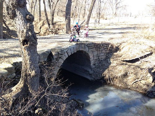 Wildcat Creek in Manhattan, Kansas.