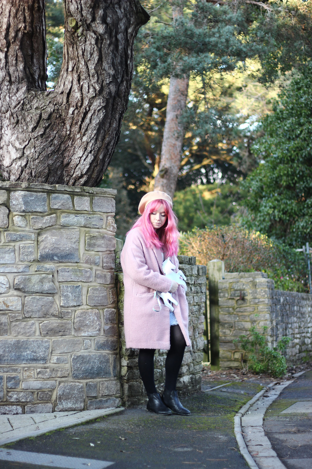 7-pink-hair-unicorn, pastel hair, blogger-outfit