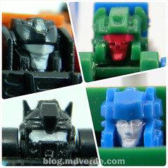 Transformers Micromasters Military Patrol (Bombshock, Tracer, Dropshot, Growl) - Transformers G1 Micromasters - modo robot