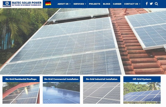 Matec Solar Power web site