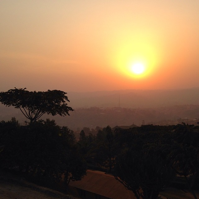 Can't wait to leave the dust and smog of Cameroon. Makes for some nice sunsets though.
