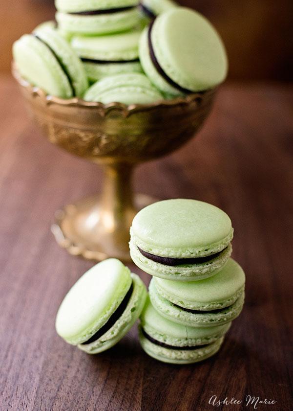 chocolate mint macaron recipe