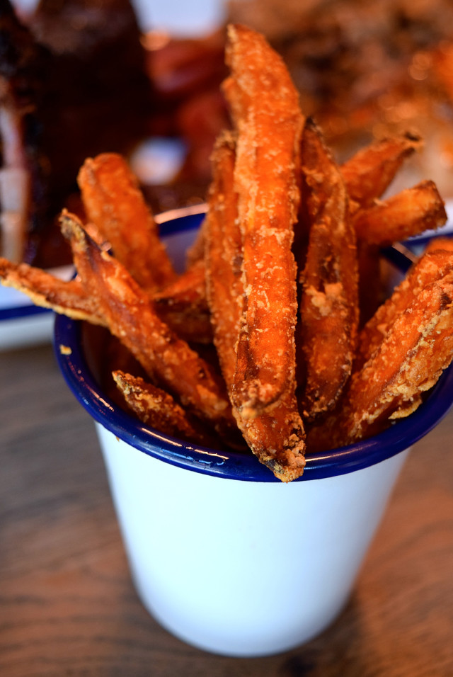 Sweet Potato Fries at Porky's BBQ, Bankside