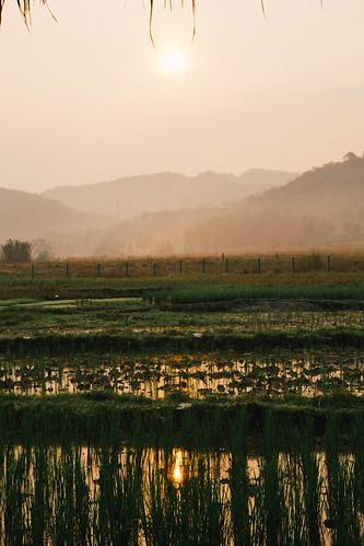 sunrise laos louangphabang livinglandfarm