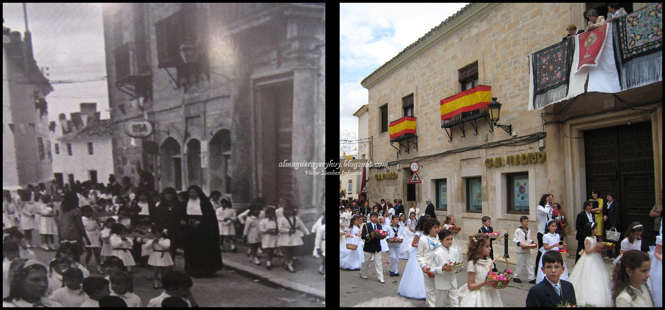 Procesión del Corpus Años 70-2011