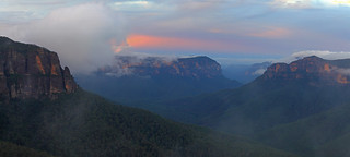 Grose Valley After Sunset pano