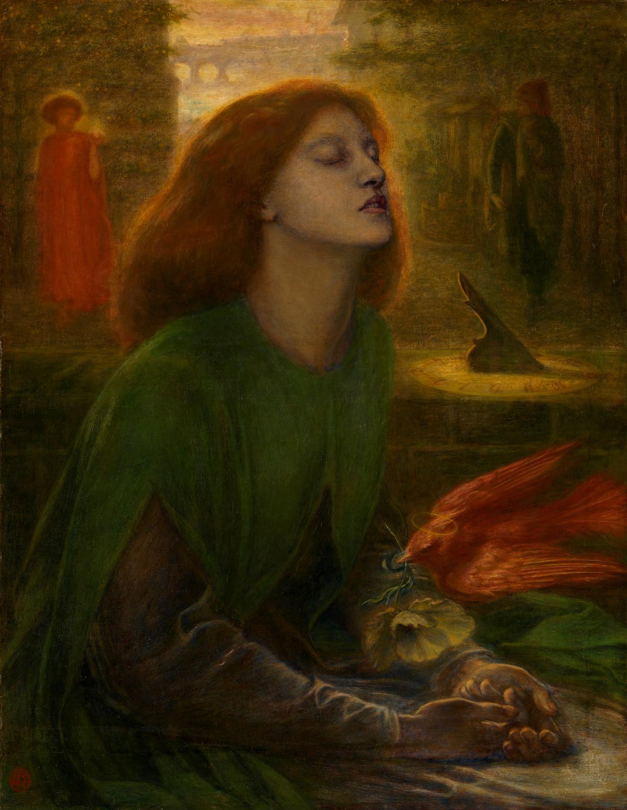 Beata Beatrix by Dante Gabriel Rossetti, 1864